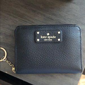 Kate spade zip mini wallet black